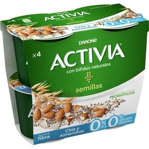 ACTIVIA Iogurt amb llavors xia i ametlles