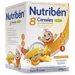 NUTRIBEN Farinetes 8 cereals amb mel i fruita