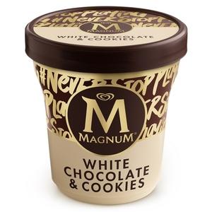 MAGNUM Gelat de xocolata blanca amb cookies