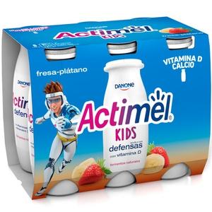 ACTIMEL Iogurt per beure de maduixa i plàtan