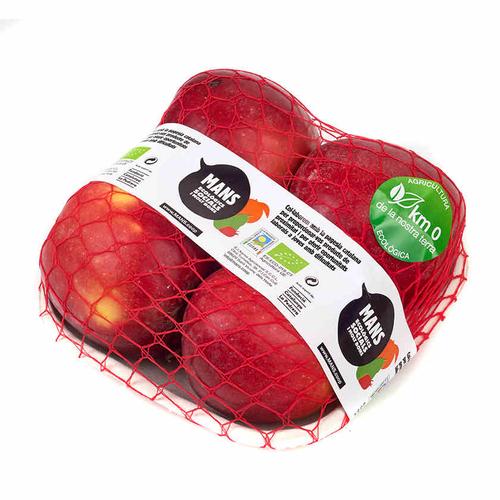 Poma vermella ecològica Km0 safata 700 g.
