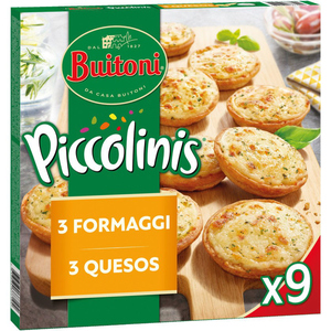 PICCOLINIS Mini pizzes de 3 formatges