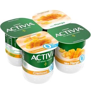 ACTIVIA Iogurt cremós de mango 0%