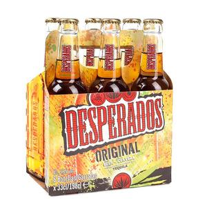 DESPERADOS Pack cervesa amb tequila 6x33 cl