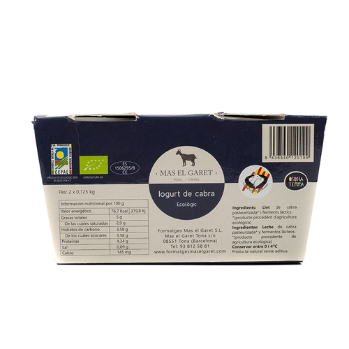 MAS EL GARET Iogurt de cabra ecològic Km0