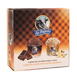 LA FAGEDA Gelats mini cups de vainilla i xocolata
