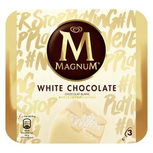 MAGNUM Gelat de xocolata blanca