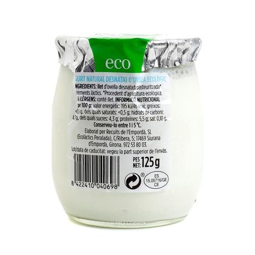 TERRA I TAST Iogurt natural ovella desnatat ecològic