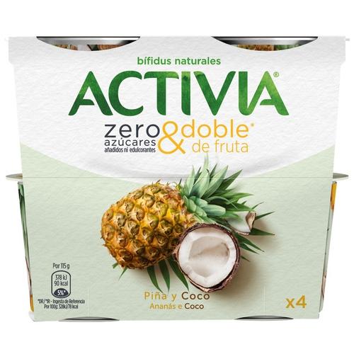 ACTIVIA Iogurt de pinya i coco