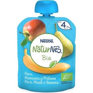 NATURNES Puré de pera, poma i plàtan eco