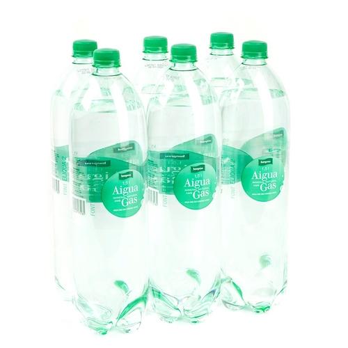 BONPREU Aigua amb gas 6x1,5L