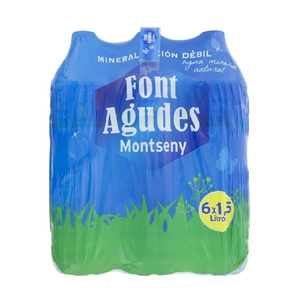 FONT AGUDES Aigua mineral natural 6x1,5L