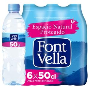 FONT VELLA Aigua mineral natural 6x0,5L