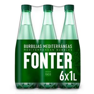 FONTER Aigua amb gas 6x1L