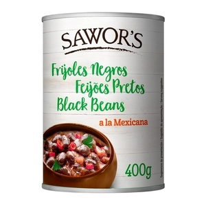 SAWOR'S Fesols negres a la mexicana