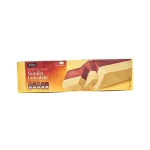 BONPREU Barra de gelat de vainilla i xocolata