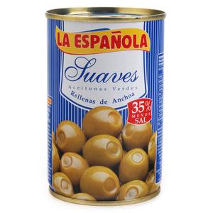 LA ESPAÑOLA Olives farcides d'anxova baixes en sal