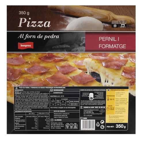 BONPREU Pizza de pernil i formatge
