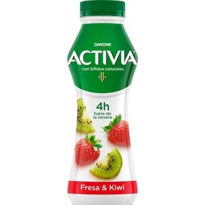 ACTIVIA Iogurt per beure de maduixa i kiwi