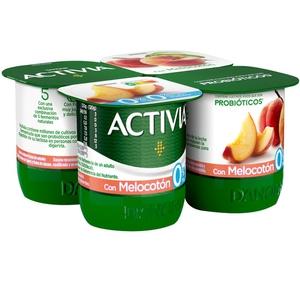 ACTIVIA Iogurt amb préssec 0%