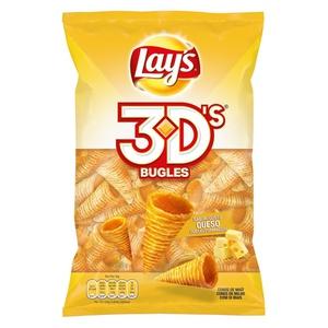 BUGLES 3D'S Snacks de blat de moro sabor formatge
