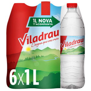 VILADRAU Pack aigua mineral natural 6x1L