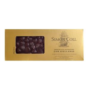 SIMON COLL Torró de xocolata i avellana bitter