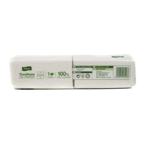 BONPREU Tovallons paper 30X30 cm blancs