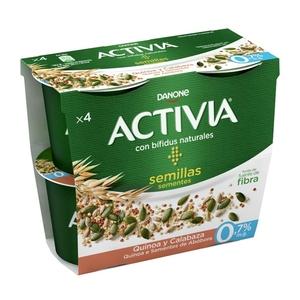 ACTIVIA Iogurt Activia quinoa-pipes carbassa 0%