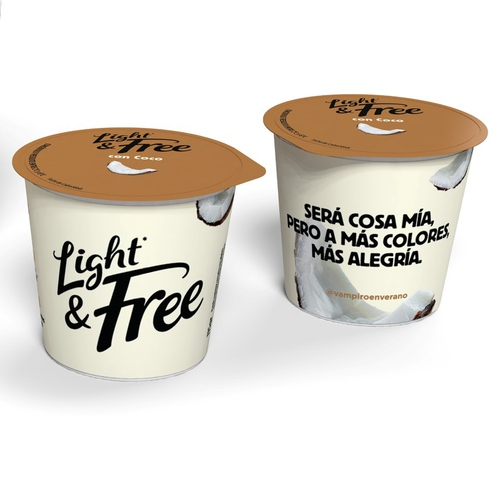 LIGHT&FREE Iogurt desnatat de coco