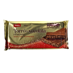 BONPREU Torró de xocolata cruixent