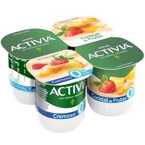ACTIVIA Iogurt cremós multifruites 0%