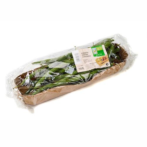 Mongetes ecològiques safata 300 g.