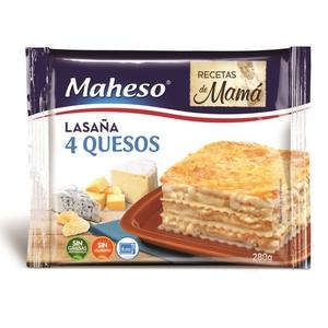 MAHESO Lasanya 4 formatges per a microones