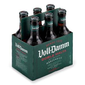 VOLL DAMM Pack cervesa doble malta 6x25 cl