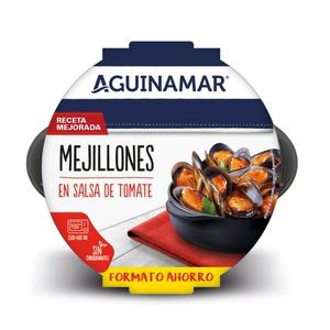 AGUINAMAR Musclos cuits amb salsa de tomàquet