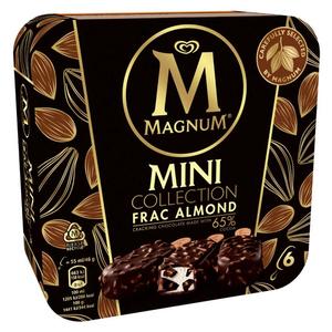 MAGNUM Gelat mini nata, xocolata amb ametlles