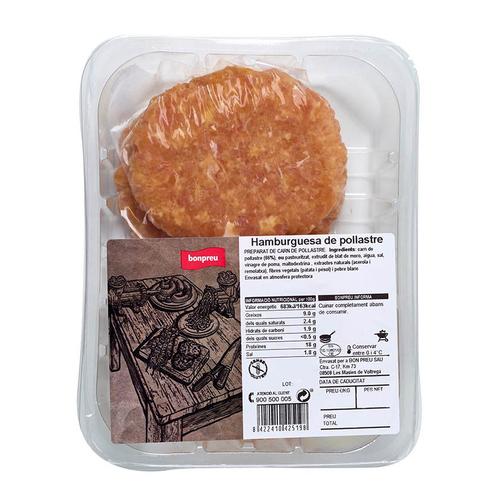 BONPREU Hamburguesa de pollastre