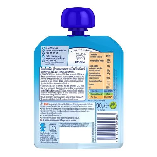 YOGOLINO Iogurt líquid de plàtan i maduixa