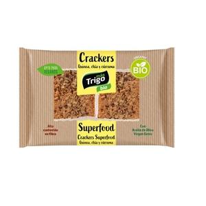 MASTRIGO Crackers de quinoa, chía i cúrcuma eco
