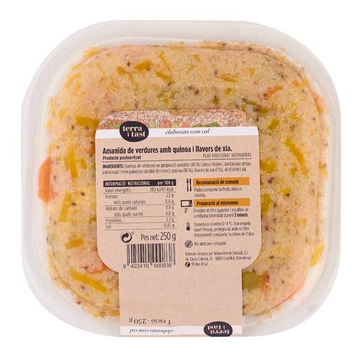 TERRA I TAST Amanida de verdures amb quinoa i xia