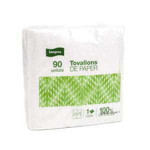 BONPREU Tovallons de paper blancs 1 capa