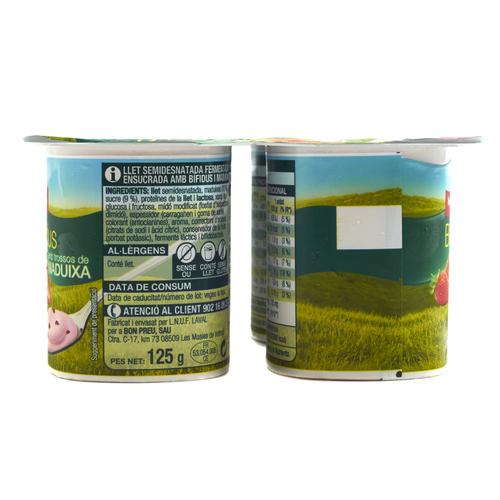 BONPREU Iogurt Bífidus de maduixa