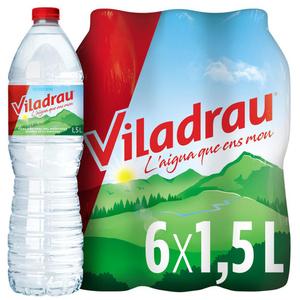 VILADRAU Aigua mineral natural 6x1,5L