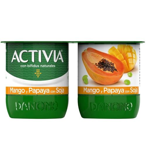 ACTIVIA Iogurt de mango i papaia amb soja