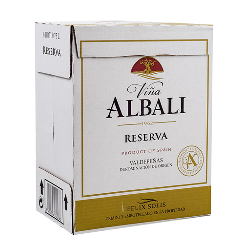 VINYA ALBALI Caixa de vi negre DO Valdepeñas reserva