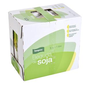 BONPREU Beguda de soja calci i vitamines 6 x1 L