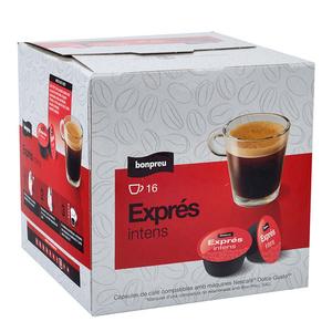 BONPREU Càpsules de cafè exprés intens