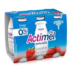 ACTIMEL Iogurt per beure de maduixa desnatat