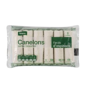 BONPREU Canelons d'espinacs sense beixamel